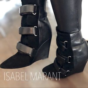 Isabel Marant suede/leather booties